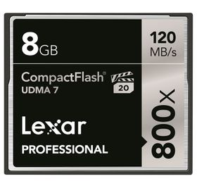Lexar 8GB Professional 800x Compact Flash Card